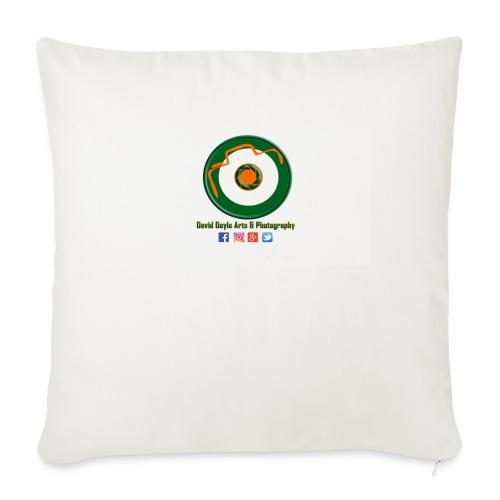 "David Doyle Arts & Photography Logo - Throw Pillow Cover 18"" x 18"""