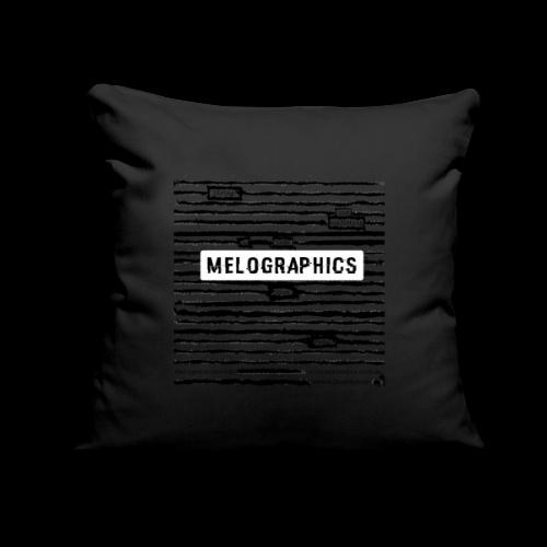 "MELOGRAPHICS | Blackout Poem - Throw Pillow Cover 18"" x 18"""
