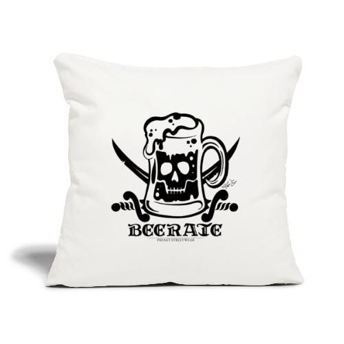 """Beerate - black - Throw Pillow Cover 18"""" x 18"""""""