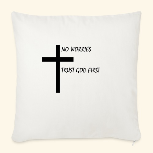 """No Worries - Throw Pillow Cover 18"""" x 18"""""""