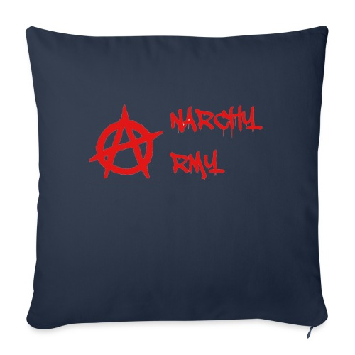 """Anarchy Army LOGO - Throw Pillow Cover 18"""" x 18"""""""