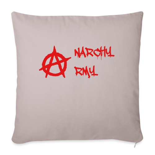 "Anarchy Army LOGO - Throw Pillow Cover 18"" x 18"""