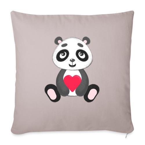 "Sweetheart Panda - Throw Pillow Cover 18"" x 18"""