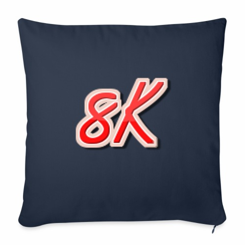 "8K - Throw Pillow Cover 18"" x 18"""
