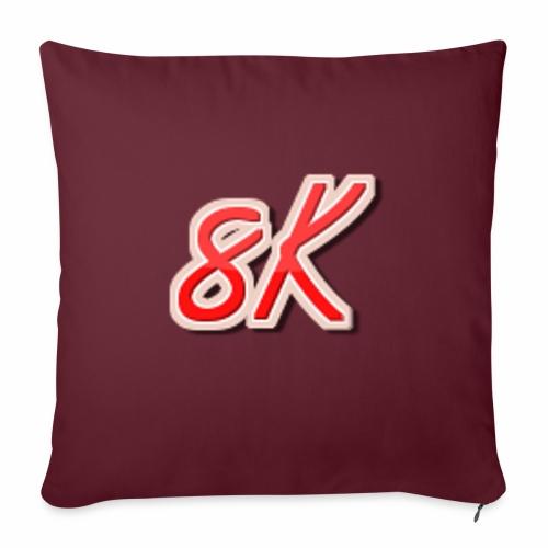 "8K - Throw Pillow Cover 18"" x 18"""
