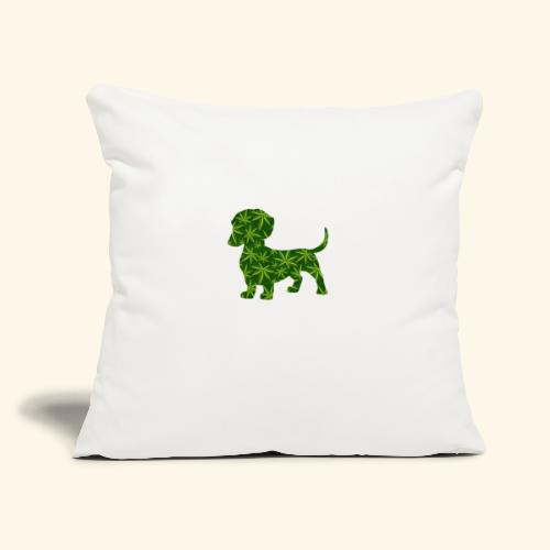 "PUFFY DOG - PRESENT FOR SMOKING DOGLOVER - Throw Pillow Cover 18"" x 18"""