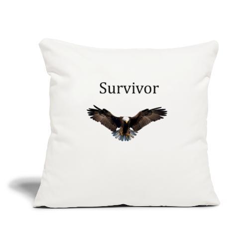 """SURVIVOR - Throw Pillow Cover 17.5"""" x 17.5"""""""