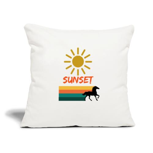 """Sunset on vacation - Throw Pillow Cover 17.5"""" x 17.5"""""""