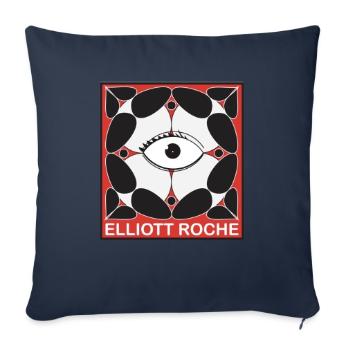 "ElliottRedEye - Throw Pillow Cover 18"" x 18"""