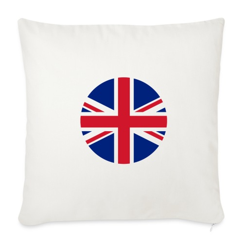 "UK Union Jack - Throw Pillow Cover 17.5"" x 17.5"""