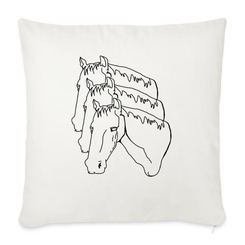 "horsey pants - Throw Pillow Cover 17.5"" x 17.5"""