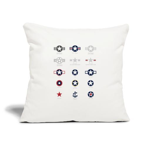"U.S. Military National Aircraft Roundels - Throw Pillow Cover 17.5"" x 17.5"""