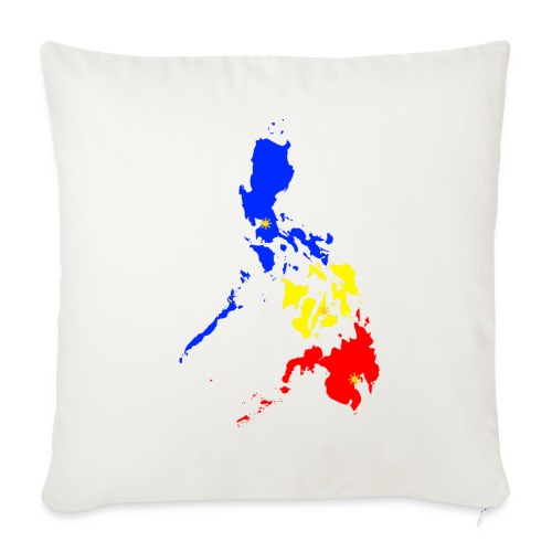 "Philippines map art - Throw Pillow Cover 17.5"" x 17.5"""