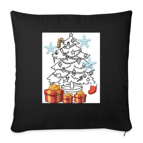 """Christmas is here!! - Throw Pillow Cover 18"""" x 18"""""""