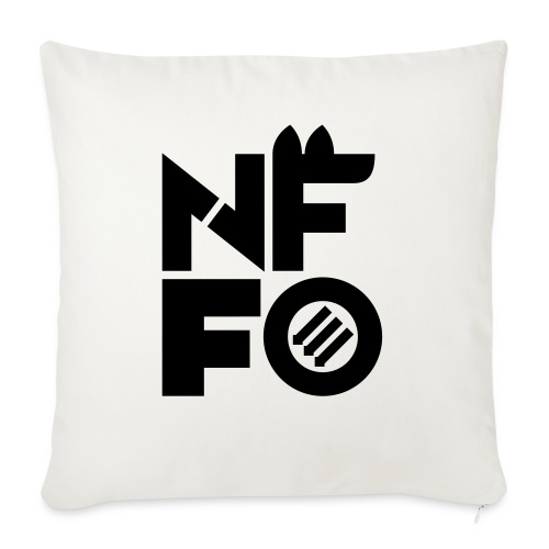 "NFFO - Throw Pillow Cover 18"" x 18"""