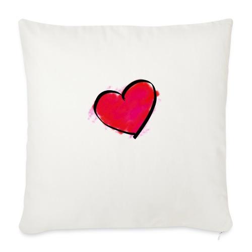 "heart 192957 960 720 - Throw Pillow Cover 18"" x 18"""