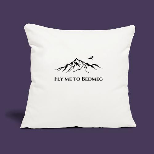 "Fly Me To Bedmeg (black) - Throw Pillow Cover 17.5"" x 17.5"""