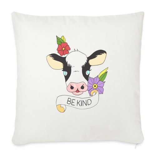 "Be kind - Throw Pillow Cover 18"" x 18"""