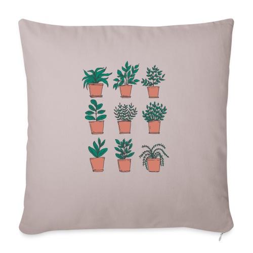 """Flowerpots - Throw Pillow Cover 17.5"""" x 17.5"""""""