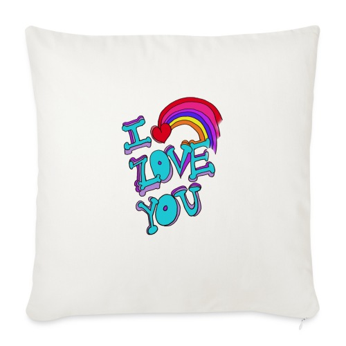 """I Love you - Throw Pillow Cover 17.5"""" x 17.5"""""""