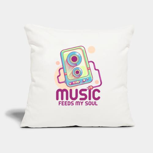"music2 - Throw Pillow Cover 17.5"" x 17.5"""