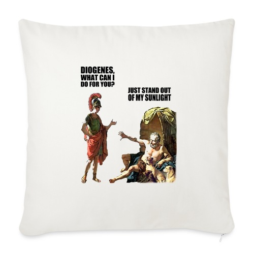 """hlalexander and diogene2 black - Throw Pillow Cover 18"""" x 18"""""""