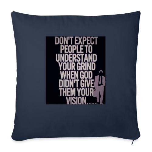"HUSTLE 10 - Throw Pillow Cover 18"" x 18"""