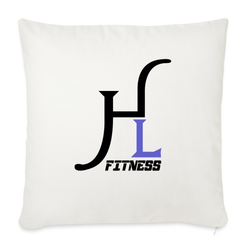 "HIIT Life Fitness Logo Purple - Throw Pillow Cover 17.5"" x 17.5"""