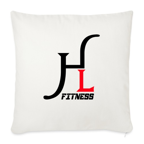 "HIIT Life Logo Red - Throw Pillow Cover 17.5"" x 17.5"""