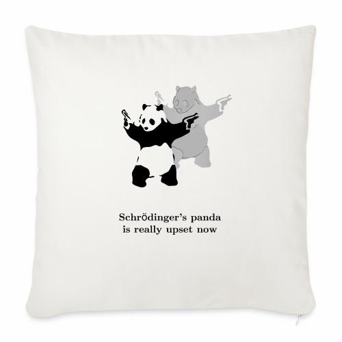 "Schrödinger's panda is really upset now - Throw Pillow Cover 17.5"" x 17.5"""