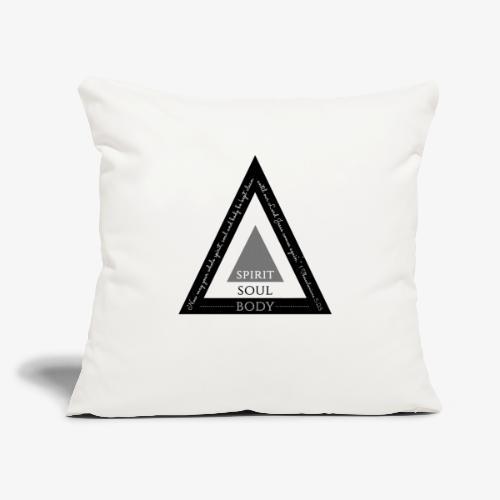 "Spirit Soul Body - Throw Pillow Cover 18"" x 18"""