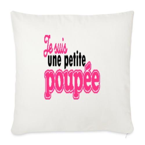 """je suis une poupee - Throw Pillow Cover 17.5"""" x 17.5"""""""