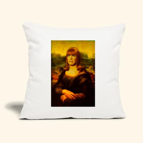 "Miss Coco Lisa - Throw Pillow Cover 17.5"" x 17.5"""