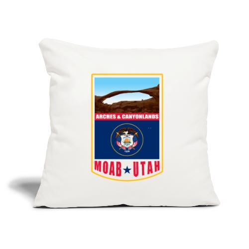 """Utah - Moab, Arches & Canyonlands - Throw Pillow Cover 17.5"""" x 17.5"""""""