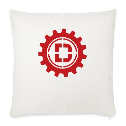 """Stacked Logo - Throw Pillow Cover 18"""" x 18"""""""