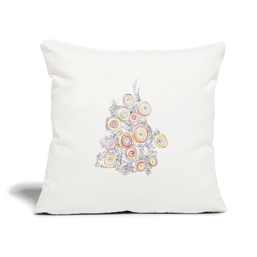 "flower - Throw Pillow Cover 18"" x 18"""