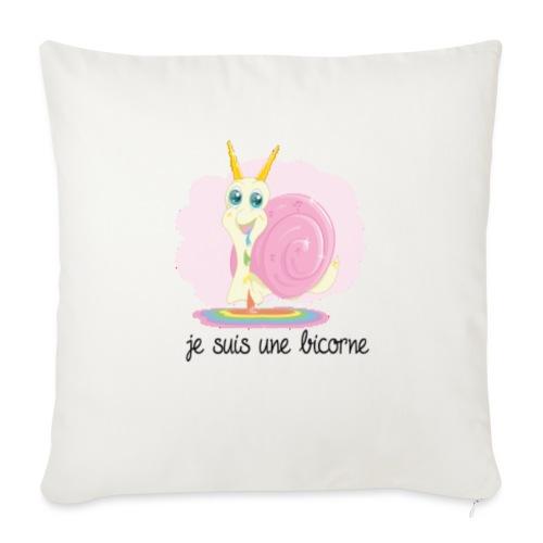 "je suis une licorne - Throw Pillow Cover 17.5"" x 17.5"""