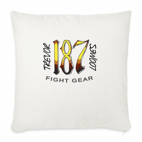 """Coloured Trevor Loomes 187 Fight Gear Logo - Throw Pillow Cover 18"""" x 18"""""""