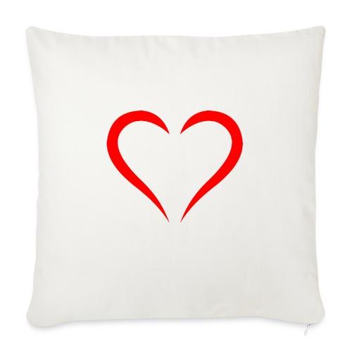"open heart - Throw Pillow Cover 18"" x 18"""