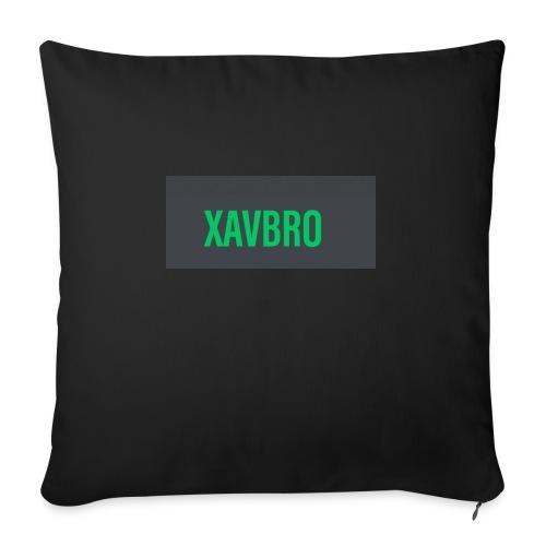 """xavbro green logo - Throw Pillow Cover 18"""" x 18"""""""