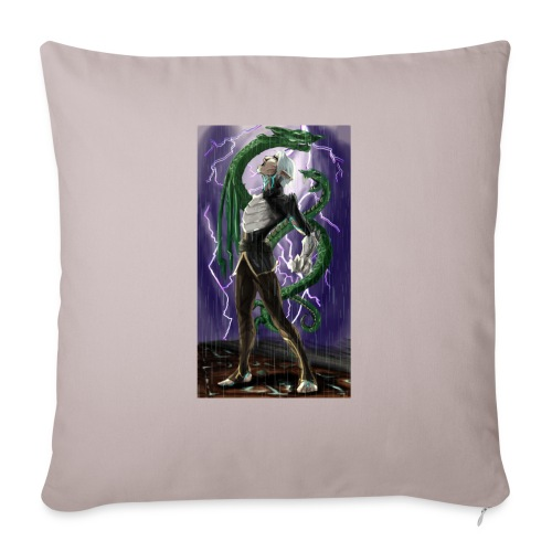 "Fenirs Rage - Throw Pillow Cover 18"" x 18"""