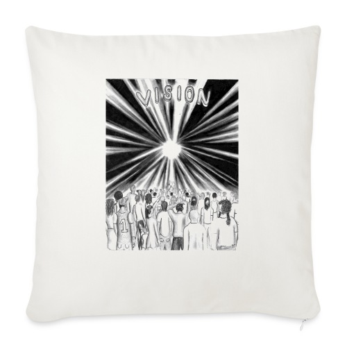 """Black_and_White_Vision - Throw Pillow Cover 18"""" x 18"""""""