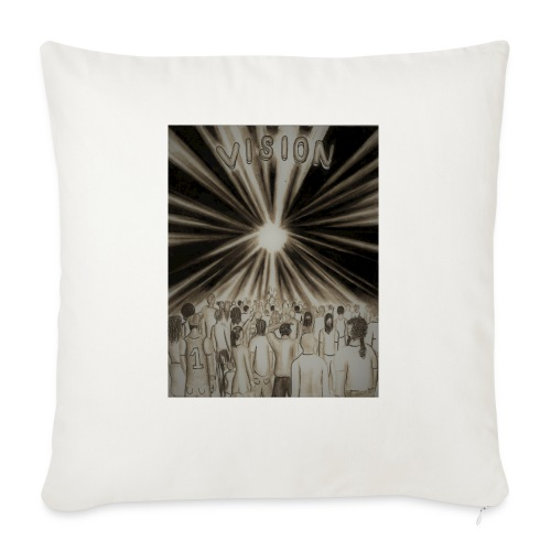"""Black_and_White_Vision2 - Throw Pillow Cover 18"""" x 18"""""""