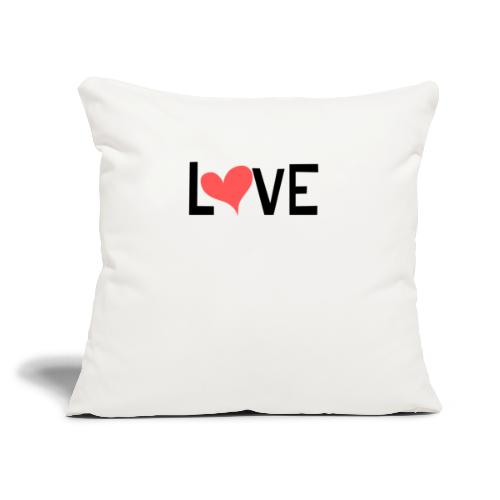 "LOVE heart - Throw Pillow Cover 17.5"" x 17.5"""