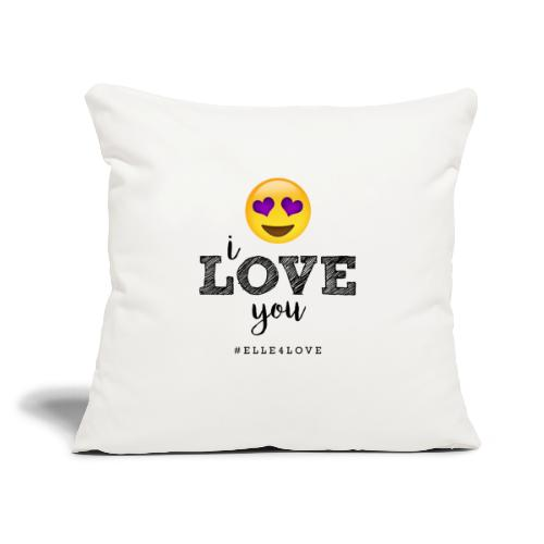 "I LOVE you - Throw Pillow Cover 17.5"" x 17.5"""