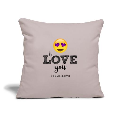 "I LOVE you - Throw Pillow Cover 18"" x 18"""