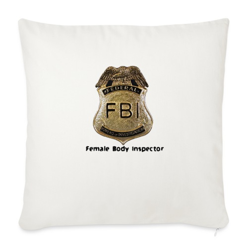 "FBI Acronym - Throw Pillow Cover 17.5"" x 17.5"""