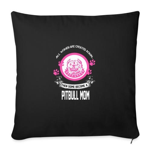 """pitbullmom - Throw Pillow Cover 18"""" x 18"""""""