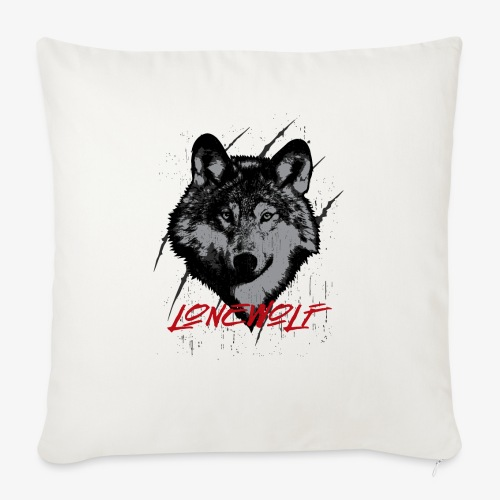 "Lone Wolf - Throw Pillow Cover 18"" x 18"""