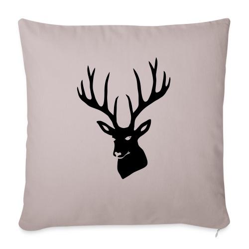 """stag night deer buck antler hart cervine elk - Throw Pillow Cover 17.5"""" x 17.5"""""""